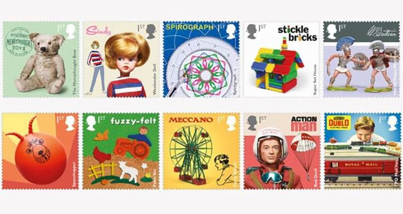 UK toys celebrated on Royal Mail stamps