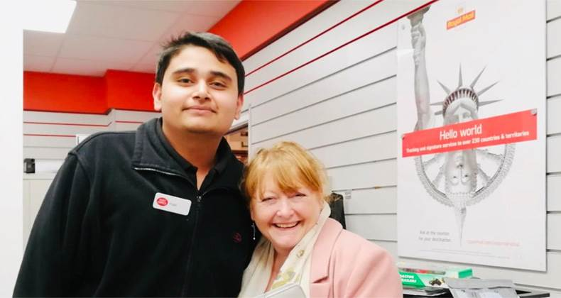 Ilkeston Postmaster shares the love for Love Your Customers week