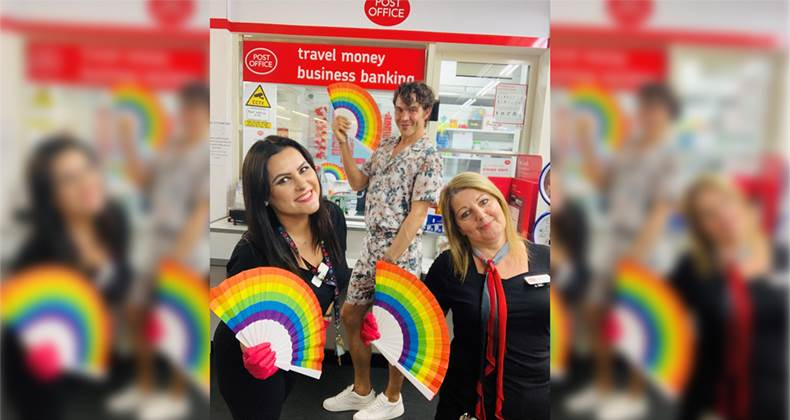 Hoddesdon Post Office supports Pride and TOWIE star Bobby Norris