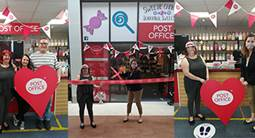 MP cuts the ribbon at official opening of Langney Post Office in East Sussex