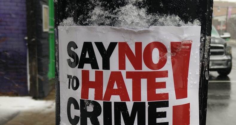 Hate crime is not tolerated in our network